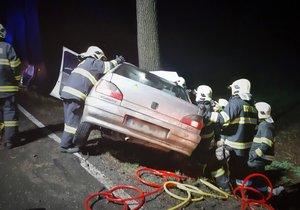 Vážná nehoda na Kolínsku: 6 zraněných