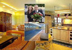 Luxusní vila šéfa Hospodářské komory Dlouhého je na prodej. V ceně je bazén i sauna.