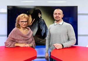 Psycholožka Radana Rovena Štěpánková byla hostem pořadu Epicentrum vysílaného dne 22. 1. 2020. Vpravo moderátor Bohuslav Štěpánek.