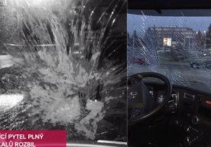 Kamioňákovi u Slaného hodili na čelní sklo pytel výkalů: Policie hledá fekálního fantoma!