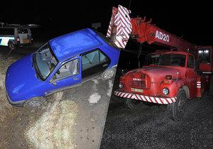 Opilý řidič havaroval v Jaroměřicích do příkopu.