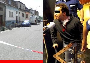 Antonín Š. stojí před soudem za loňskou brutální vraždu dvou lidí v Břeclavi. Tvrdí, že je nevinný.