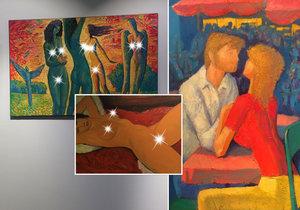 Do konce března jsou k vidění obrazy, koláže i asambláže akademického malíře Rumena Sazdova, který se ve svém díle nejvíce věnuje tématu lásky a obdivování přirozené krásy nahého ženského těla.