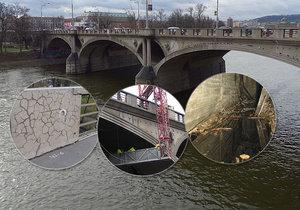 Část Hlávkova mostu je ve špatném stavu: Čeká ho výměna panelů, doprava bude omezená