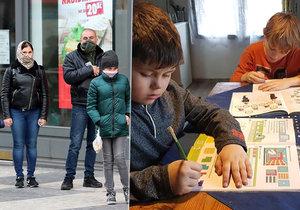 Děti se nyní učí z domova. (18. 3. 2020)