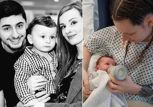 Dojemné video: Maminka poprvé drží svého synka poté, co byla po porodu dva týdny v kómatu