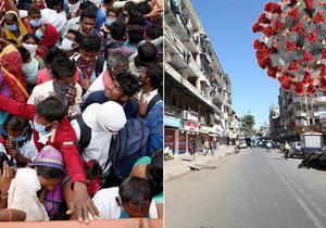 """""""Dřív než koronavirus nás zabije hlad,"""" obávají se nejchudší Indové."""
