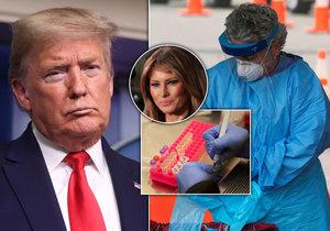 Trump chce do Velikonoc USA otevřít, nechce krizi. Na koronavirus se nechala otestovat už i jeho žena.