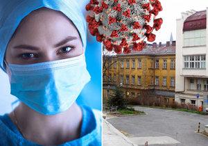 Ve Všeobecné fakultní nemocnici v Praze ležela infikovaná žena na koronární jednotce.