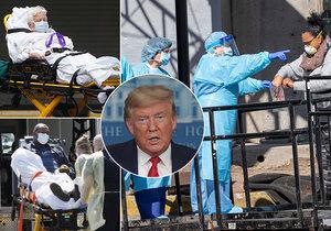 Koronavirus v USA: Podle Trumpa nemoc není tak nakažlivá, případů ale přibývá.