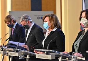 Tiskovka po jednání vlády o dalších opatření kvůli koronaviru (1.4.2020)