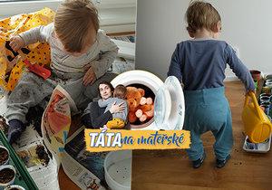 Táta na mateřské: Jak jsem omylem vyrobil domácí pískoviště a odnaučil dítě hrabat v kytkách