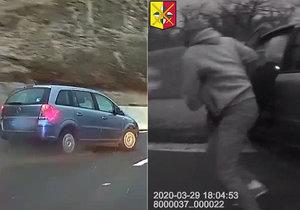 Šílené video z policejní honičky! Zfetovaný gauner ujížděl po Jižní spojce v kradeném autě