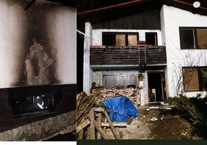 Dům na Vsetínsku zdevastoval požár: Rodina s dvěma dětmi přišla o střechu nad hlavou