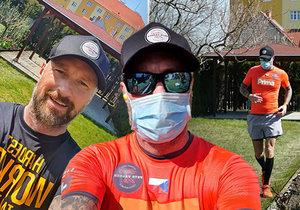 Petr Vágner si dopřál na své zahradě maraton