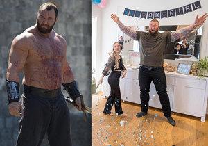 Hafþór Júlíus Björnsson, hvězda seriálu Hra o trůny, se těší na děťátko.