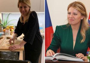 Slovenská prezidentka Zuzana Čaputová ukázala něco málo z domova.