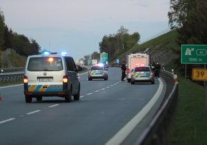 Opilec jel na dálnici D55 v protisměru: Nadýchal dvě promile