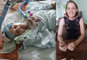 Monika měla dva nádory na mozku. Po operaci skončila upoutaná na invalidní vozík.