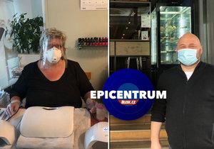 Epicentrum: Restauratér a kosmetička otevřeně o restartu byznysu, ztrátách i nových opatřeních.