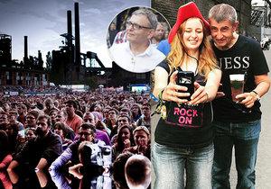 Velké festivaly mají letos smůlu, na příští rok se přesunul i Colours of Ostrava, kam v minulosti zavítali jak Lubomír Zaorálek (ČSSD), tak i Andrej Babiš (ANO)