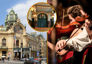Obecní dům ožije! Zdarma tu pro lidi zahraje pražský symfonický orchestr. Povinností bude rouška a rozestupy
