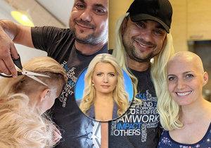 Aneta Parišková bojuje s rakovinou, tak jí manžel oholil hlavu