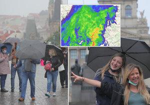 Deštivé počasí v Česku. (ilustrační foto)