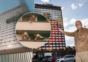 Po 25 letech na místě činu. Václav Kratochvíl v roce 1995 velel pražským hasičům při hašení požáru hotelu Olympik. Ten si 26. května 1995 vyžádal celkem osm lidských obětí.