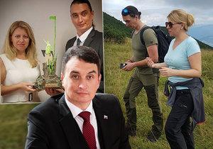 """Juraj Rizman po boku Zuzany Čaputové: Její bývalý poradce je jejím """"prvním frajerem"""", v poslední době pak odložil náušnici a vzdal se culíku"""