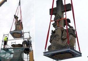 Z pražského Karlova mostu bylo 5. června 2020 sneseno sousoší svaté Luitgardy. Důvodem je chystaná oprava trhliny v pilíři mostu pod sousoším.