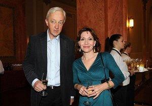 Michaela Dolinová s manželem Janem Sváčkem
