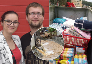 Mirka s Mirkem pomáhají Šumvaldu: Probudili lidi a nasbírali 4,5 tuny proviantu pro vytopené