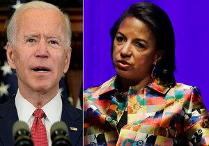 Joe Biden a kandidátka na viceprezidentku Susan Rice (14. 6. 2020)