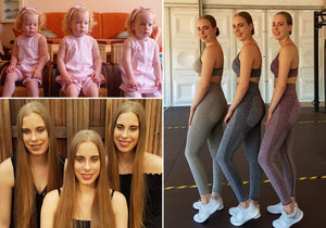 Identická trojčata jsou nerozlučná: I v dospělosti dělají vše společně a oblékají se stejně.