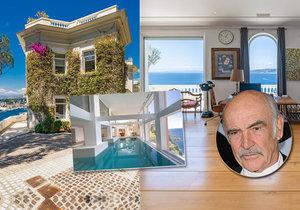 Sean Connery prodával luxusní sídlo ve Francii, ve kterém se natáčela populární bondovka.