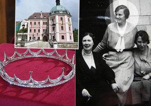 Korunka komtesy Eleonory: Z levné cetky je milionový šperk! Vidět ho můžete na Bečově