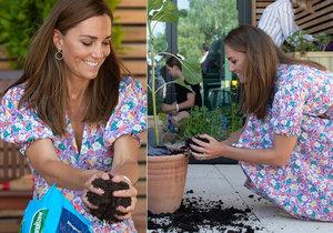 Vévodkyně Kate Middletonová pomáhala charitativní organizaci zkrášlit zahradu.