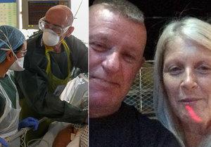 Victor (57) bojoval 65 dní s koronavirem, 6 týdnů byl v kómatu. Během nemoci rapidně zhubl, váží jen 57 kilo.