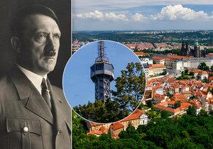 Petřínská rozhledna je jednou z nejznámějších dominant Prahy. Vůdci Třetí říše Adolfu Hitlerovi se ale nelíbila a chtěl ji zbourat.