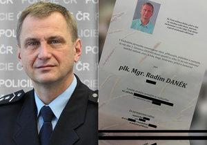 """Sebevražda policejního náměstka Daňka: Dojemný vzkaz rodiny do nebe! Na """"srdcaře"""" vzpomínají i kolegové"""