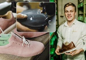 Atletiku pověsil na hřebík, stal se z něj obuvník: Václav (22) svými botami navazuje tam, kde skončil Baťa