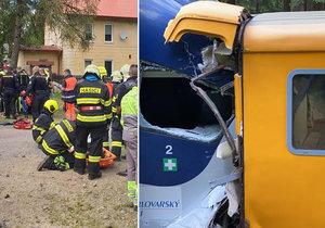 Nářek, sténání, amputace: Svědci popsali peklo po havárii vlaku u Perninku