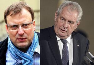 Soudní proces Hradu a Bartíka pokračuje, žalován je kvůli tvrzení o prezidentově rakovině.