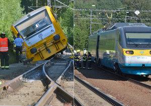 Vykolejený vlak v Lázních Kynžvart se podařilo odstranit: Policie zadržela jednu osobu