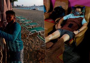 Opuštěné pláže a prázdné bary v turistickém ráji. Koronavirus devastuje Thajsko.