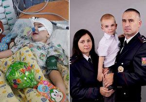 Mareček (3) po zánětu mozkových blan ochrnul: Léčba stojí měsíčně 125 tisíc!