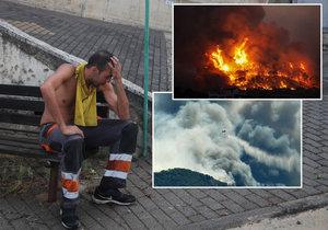 Lesní požáry v Řecku.