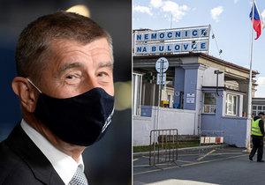 Andrej Babiš vyrazil neohlášeně na Bulovku.