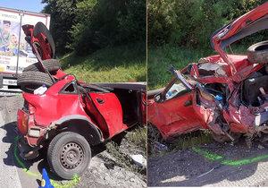 Tragická nehoda na dálnici D1 mezi Brnem a Vyškovem, řidič kamionu přehlédl řidiče osobního auta, který měnil prázdnou pneumatiku.